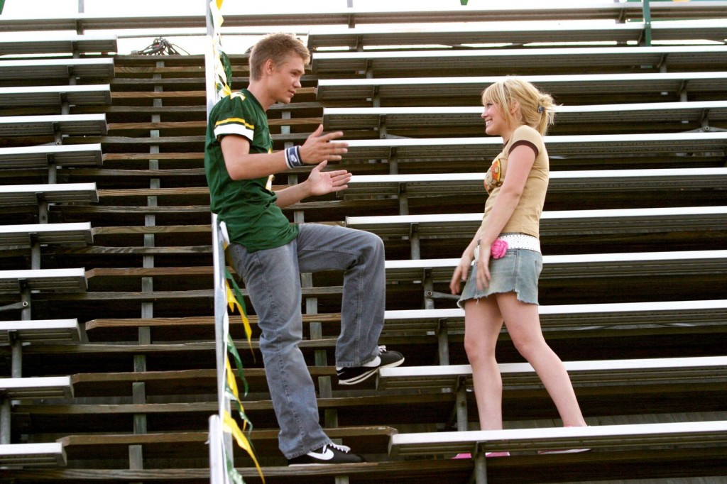 Apr 26, 2004; Hollywood, CA, USA; Actors CHAD MICHAEL MURRAY as Austin Ames and HILARY DUFF as Sam Montgomery star in the romantic comedy 'A Cinderella Story.'  Mandatory Credit: Photo by Warner Bros./ZUMA Press. (©) Copyright 2004 by Courtesy Warner Bros.